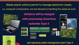 A permit is a must for electronic waste plants
